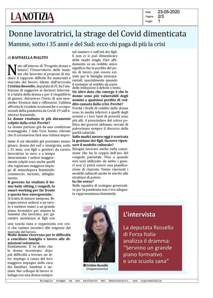DONNE LAVORATRICI, LA STRAGE DEL COVID DIMENTICATA
